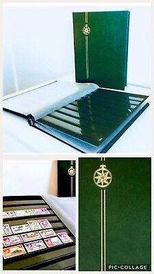 *NEW** ⭐️ Luxury Stamp Stockbook Collector Album (16, Black Pages)