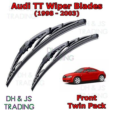 "(98-03) Audi TT 8N MK1 Front Wiper Blades Window Windscreen 22"" 21"" Hook Type"