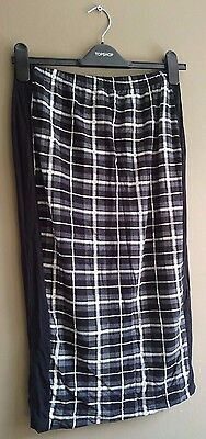 ASOS Black and White Check Maternity Pencil Skirt, Size 10