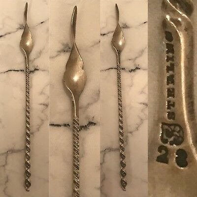 Antique Sterling Silver Towle Twisted Andle Butter Pick 6.25''