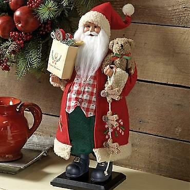 "New!  Christmas Santa With Gingerbread Bear 18"" Holiday Decorations Raz  3615508"