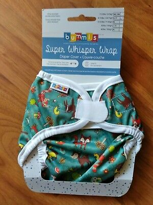 BUMMIS SUPER WHISPER WRAP Small Diaper Cover   Forest Animals   New With Tags