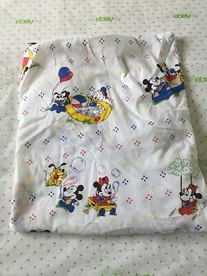 WALT DISNEY CO. BABIES 1984 VTG fitted crib sheet baby toddler bed MICKEY MINNIE