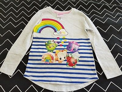 Girls new SHOPKINS long sleeve top size 8
