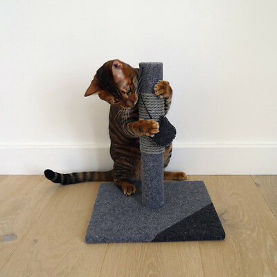 Rosewood Catwalk Collection Charcoal Cat Scratching Sisal Post Catnip Toy Kitten