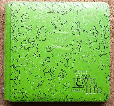 Creative Memories Reflective Green Where there is Love 8x8 Album / Coverset