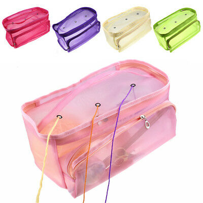 Knitting Bag Portable Tote Yarn Storage Case for Crocheting Hook SewingNeedles Z