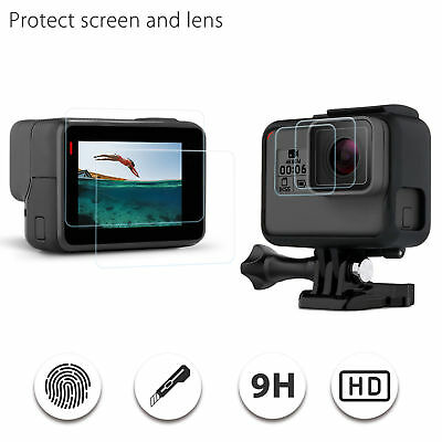 For Gopro Hero 6/5 Screen Protector/Lens 9H Hardness Tempered Glass Film Cover