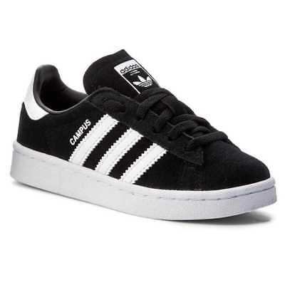 first rate 16a24 bc6b6 Adidas Campus Scarpe Sneaker Bambini Ragazzi Nero BY9594-BLACK