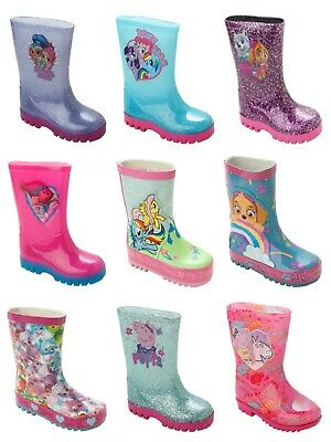 Girls Official Character Wellies Wellington Rain Snow Wellys Boots Size 5-2