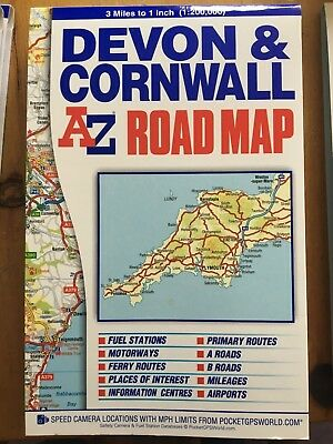 Devon & Cornwall Road Map by Geographers' A-Z Map Company (Sheet map, folded)