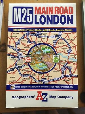 M25 Main Road Map of London by Geographers' A-Z Map Company (Sheet map, folded)