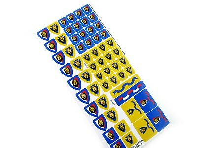 CUSTOMISED STICKERS for Lego 6090 4811 CASTLE BUILDS, ETC. Build a Knights Army!