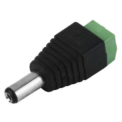 Male Led Connector Plug Jack Adapter 2.1x5.5mm for 5050 Strip Head DC Power V2