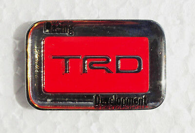 TOYOTA RACING DEVELOPMENT TRD LAPEL PIN BADGE. 30x20mm. BUTTERFLY PIN FITTING
