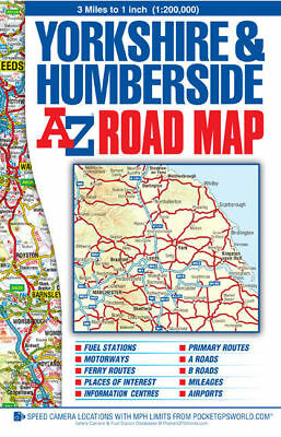 Yorkshire and Humberside Road Map by Geographers' A-Z Map Company (Sheet map)