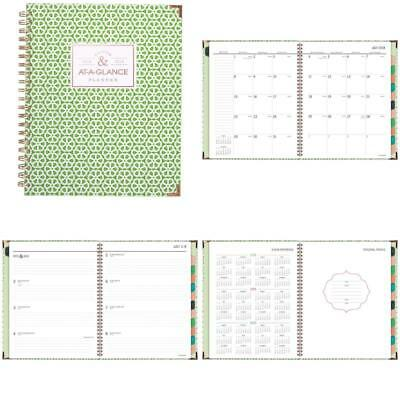 at a glance academic weekly monthly planner july 2018 june 2019