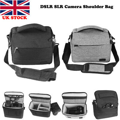 DSLR Camera Messenger Carry Shoulder Bag Insert Pouch Case For Sony Nikon Canon