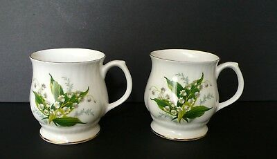 2 Hammersley LILY OF THE VALLEY  Bone China Mugs