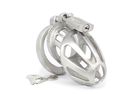 BON4M Small High Quality Hinged Male Chastity Device Stainless Steel New Model