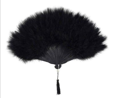 Zucker Feather Black Marabou Fan