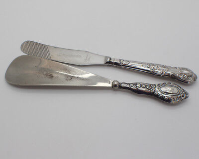 Sterling Silver Chester Shoe Horn 1913 and Sheffield Butter Spreader 1966