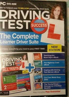 Latest Driving Theory Test Success All Tests -Hazard Perception Dvd/PC Rom UK.
