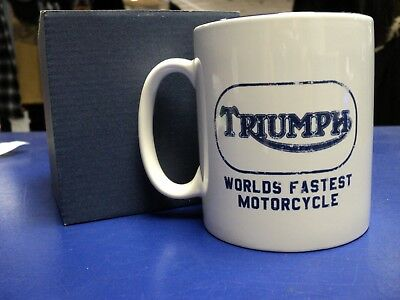Genuine Triumph Worlds Fastest Mug. Boxed. A Perfect Motorcycling Gift