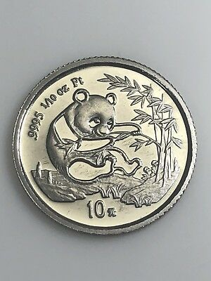 1994 China 10 Yuan Platinum Panda RARE