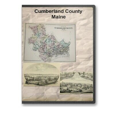 Cumberland County / Yarmouth Maine ME History Culture  Genealogy 7  Books - D433