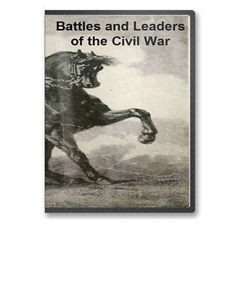 Battles and Leaders of the Civil War: 4 VOlumes, 2,800+ Pages on CD - B223