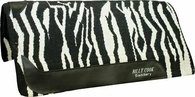 Billy Cook Saddlery Zebra VIP Deluxe 3-Layer Saddle Pad with Wool Top