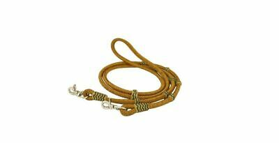 Cowboy Pro Braided Leather Reins with Rawhide Knots and Trigger Snaps