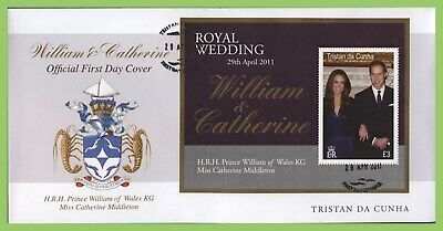 Tristan Da Cunha 2011 Royal Wedding William & Kate M/S First Day Cover