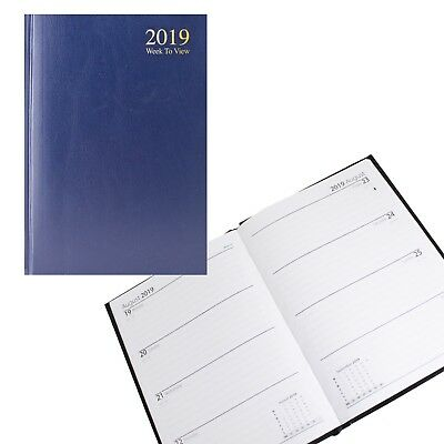 2019 Diary A5 A4 Week to View Day a Page Gilt / Plain Edge Navy - Choose Design