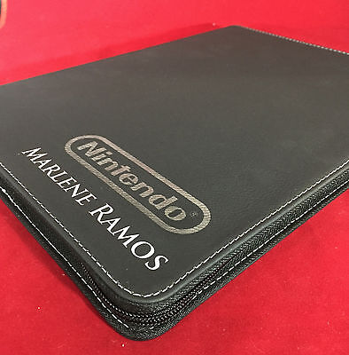 Custom Engraved Portfolio Leatherette personalised gold or silver engraving