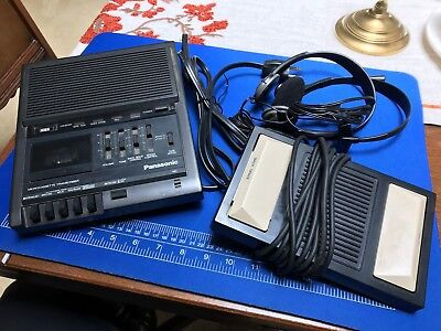 Panasonic RR-930 Microcassette Dictation Transcriber and RP-2692 Foot Pedal