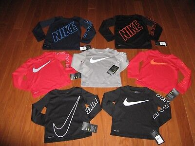 Nike Long Sleeve T-Shirt Boys Size 2T/3T/4T Nwt