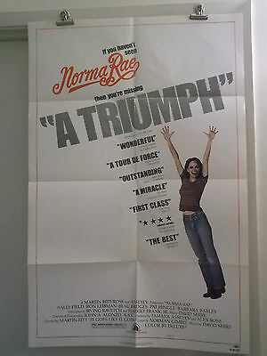 NORMA RAE one 1 sheet STYLE B movie poster SALLY FIELD 1979 original