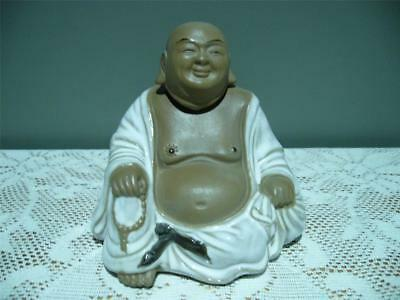 Chinese Mudman Style Figurine - Laughing Buddha - Removable Head - Vgc