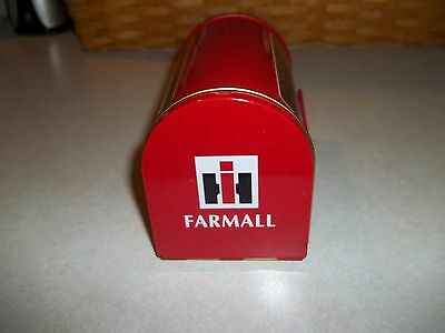 International Harvester Farmall Ih Miniature Collectible Mailbox Farmall M Trac