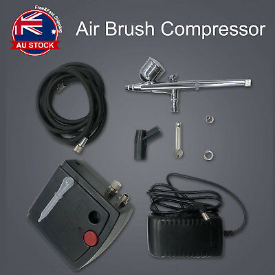 Air Brush Compressor Dual Action Spray Gun Airbrush Kit 0.3mm Needle Art Set A