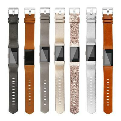 Leather Watch Band Bracelet Wrist Strap for Fitbit Charge 2 Smart Watch