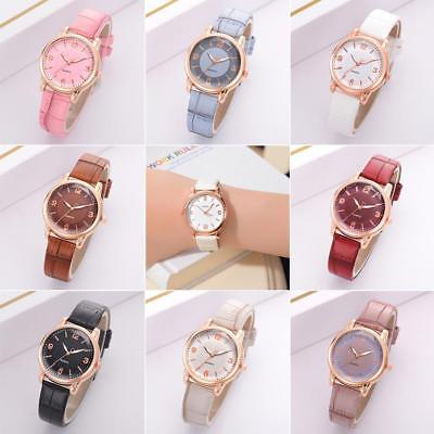 Crocodile PU Leather Strap Women Watch Quartz Analog Casual Lady Wristwatch