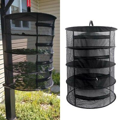 Herb Drying Rack Net 4 Layer Herb Dryer Mesh Hanging Dryer Racks with Zipper