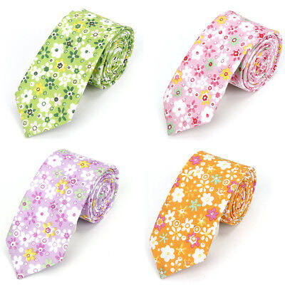 Men's Floral Flower Neck Ties Wedding Party Tuxedo Business Necktie High Quality