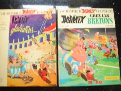 Asterix in French Gladiateur & Bretons Gladiator Britons HB 19731972 educational
