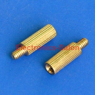 20pcs 8mm Threaded M2 Brass Male-Female Standoff, Spacer.