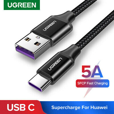 Ugreen 5A USB Type C Charge Cable Fast Charging Data Lead for Huawei Mate 10 P20