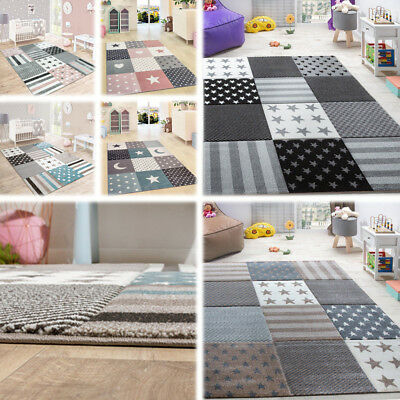 Star Nursery Rug Childrens Bedroom Floor Carpet Baby Kids Play Mats Small Large